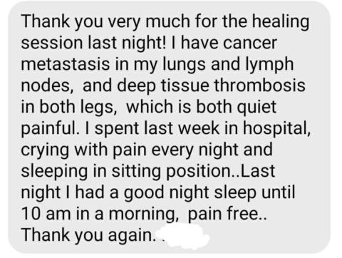 Live Healing Feedback